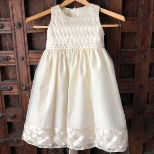 Girls Cream Dress